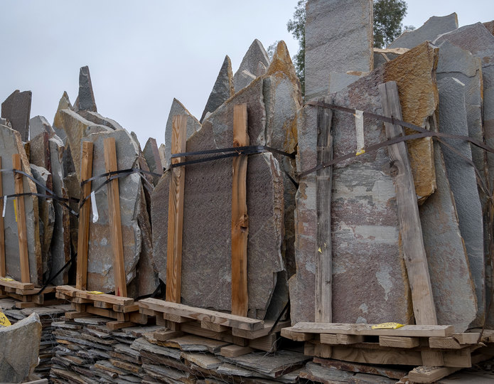 Stardust natural flagstone patio pavers in bulk at rock yard