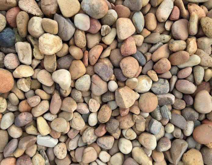 Mexican Sunburst landscape cobblestone pebble in bulk at rock yard 2