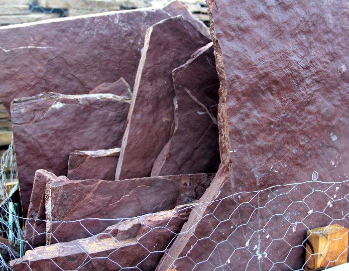 Cabernet Creek natural flagstone patio pavers in bulk at rock yard