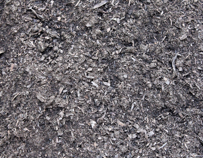 Amended Topsoil landscape mulch groundcover in bulk at rock yard