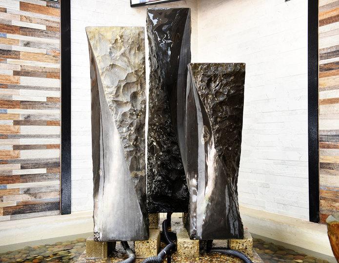 Basalt Helix Fountain