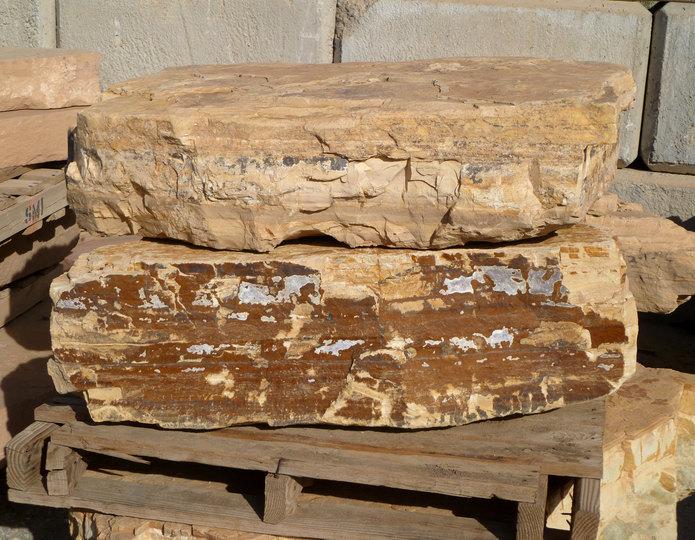 Snakeskin landscape boulders in rock yard 3