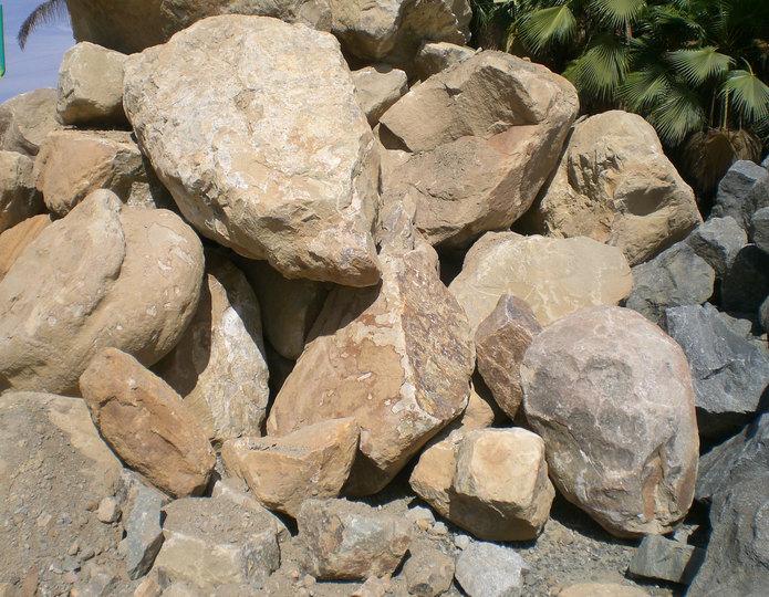 Topanga landscape boulders in rock yard
