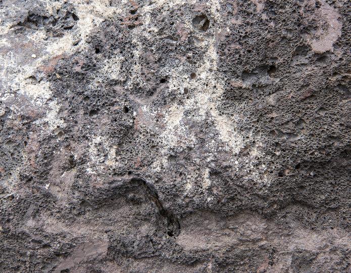Lava landscape boulder closeup texture