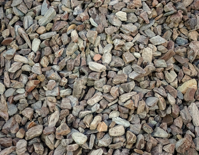 Timberline crushed stone rock in bulk at rock yard