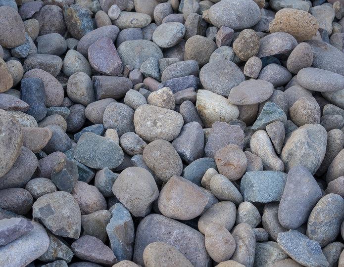 Mission landscape cobblestone pebble in bulk at rock yard 2