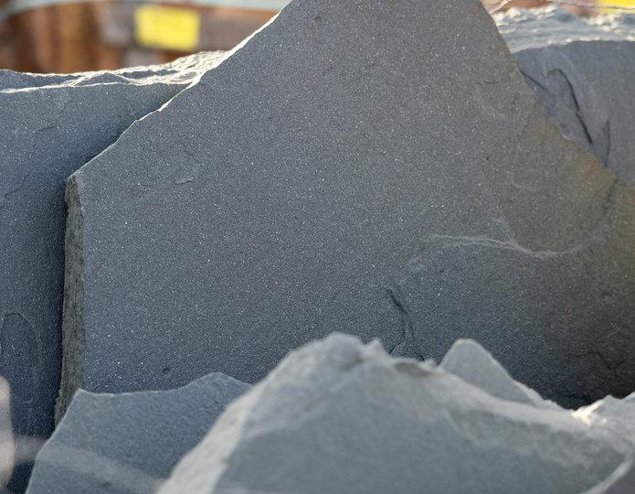 Bluestone Blue flagstone patio pavers in bulk at rock yard 3