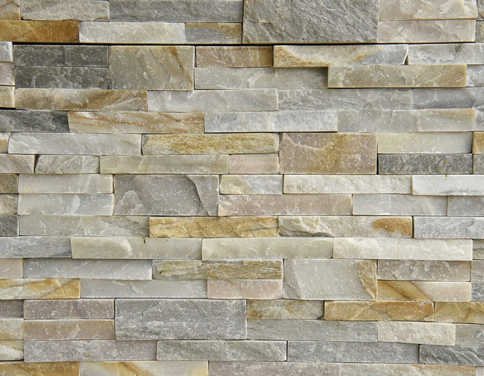 Golden Honey Stone Veneer Natural Ledgestone on rock wall project