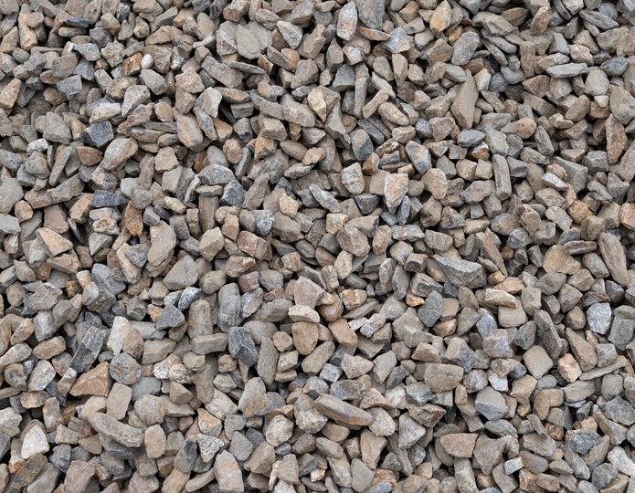 Copper Canyon crushed stone rock in bulk at rock yard