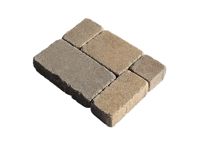 Acker Stone Combo Stone No Chamfer Tumbled Paver Set Sample