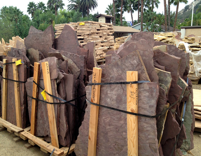 Arizona Chocolate natural flagstone patio pavers in bulk at rock yard 4