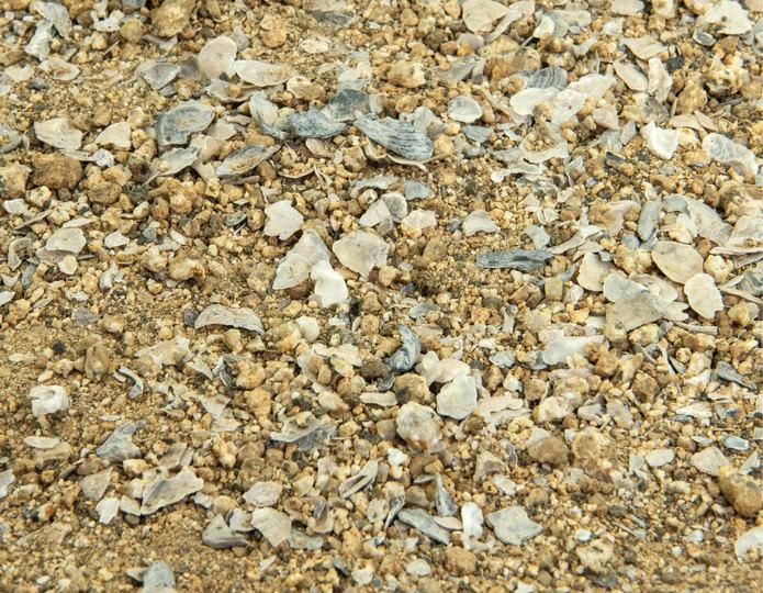 Gold Bocce Blend landscape groundcover in bulk at rock yard 2