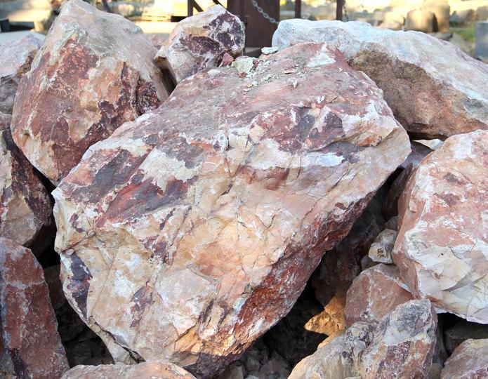 Gambler's Gold landscape boulder pile in rock yard