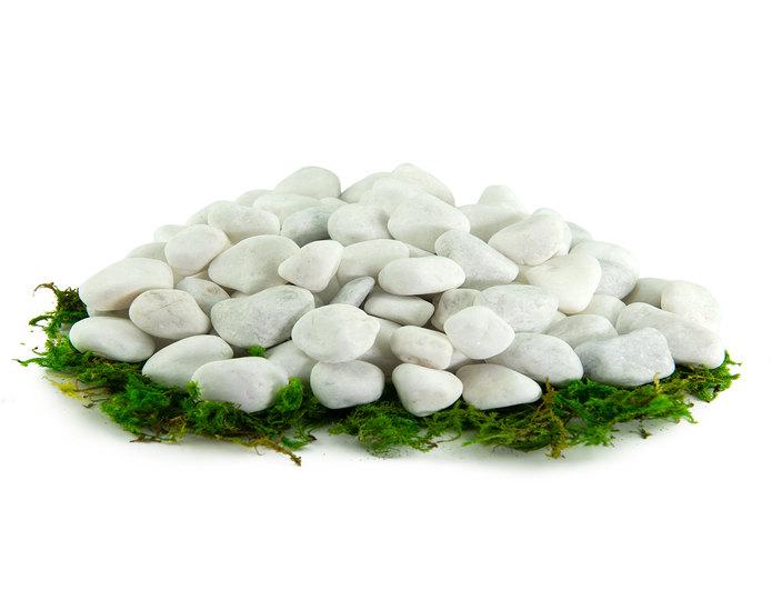 Porcelain landscape cobblestone pebbles in bulk at rock yard