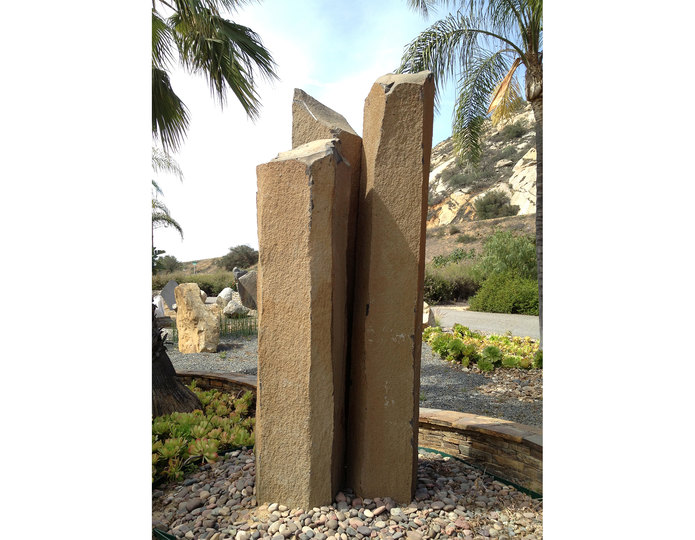 Basalt Stone Columns at rock yard 1