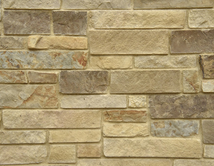 Rio Grande Stone Veneer Natural Ledgestone on rock wall project