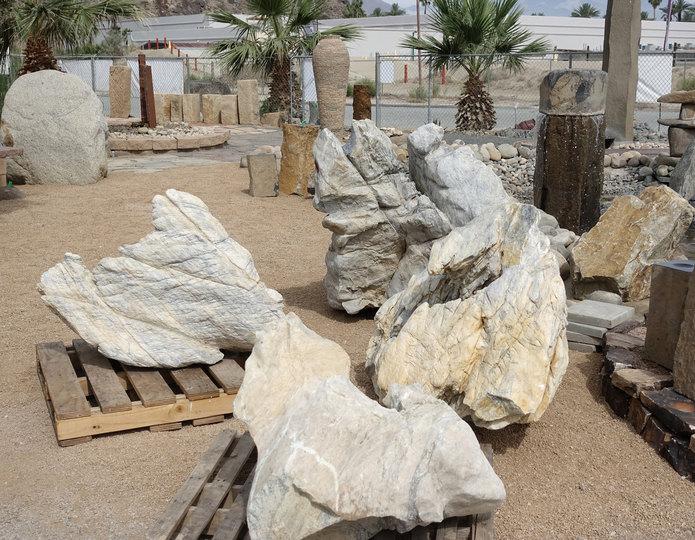 Moonshadow landscape garden boulders in bulk at rock yard 3