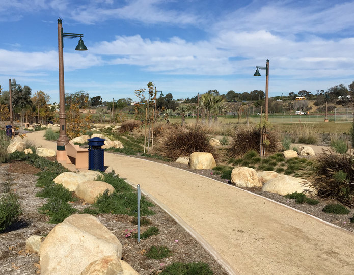 Brimstone decomposed granite fines pathway installed in park