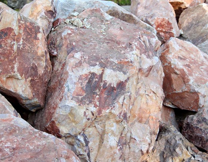 Gambler's Gold landscape boulder pile in rock yard 2