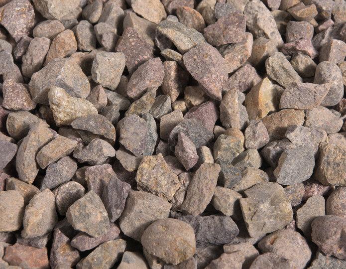 Indian Summer crushed stone rock in bulk at rock yard