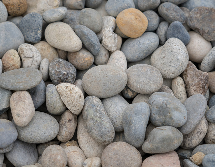 Santa Fe landscape cobblestone pebble in bulk at rock yard