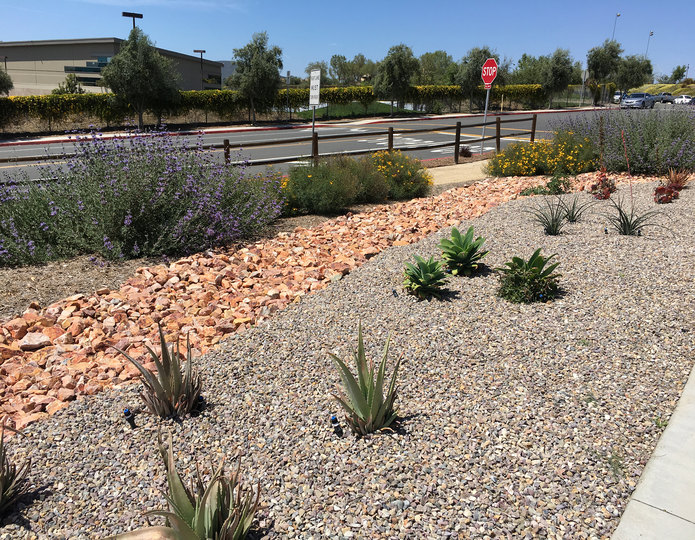 Indian Summer crushed stone rock installed in park