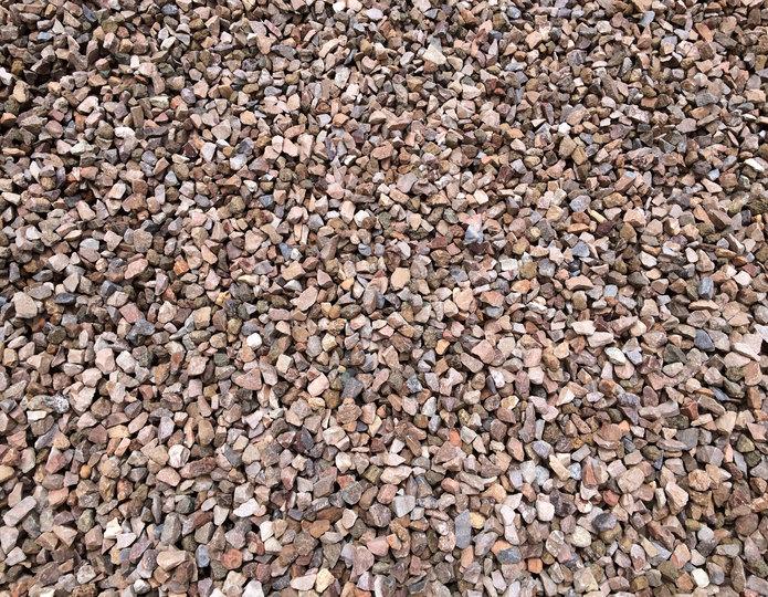 Apache Brown crushed stone rock in bulk at rock yard 2