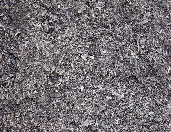 Amended Topsoil landscape mulch groundcover in bulk at rock yard 2
