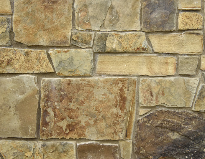 Colorado Ranch Stone Veneer Natural Ledgestone on rock wall project
