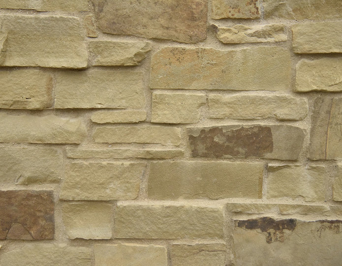 Oak Ridge Stone Veneer Natural Ledgestone on rock wall project