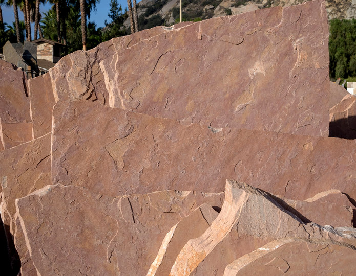 Arizona Rosa natural flagstone patio pavers in bulk at rock yard