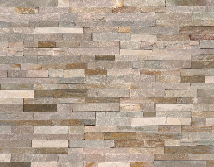 Golden Honey Stone Veneer Natural Ledgestone on rock wall project 2