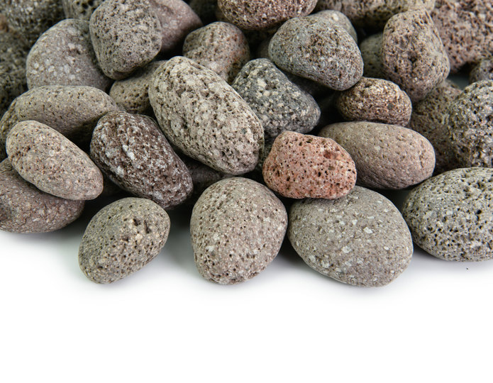 Red Mauna Loa landscape pebble closeup texture