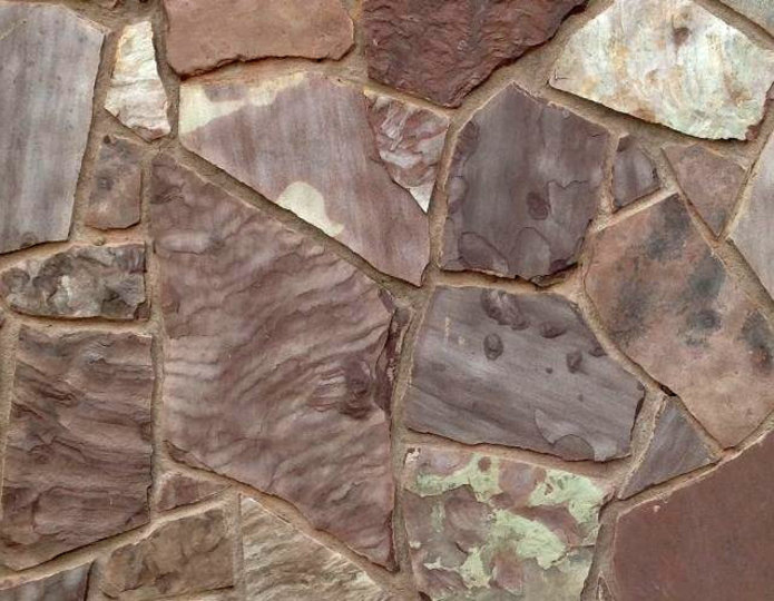 Arizona chocolate natural flagstone patio pavers on floor