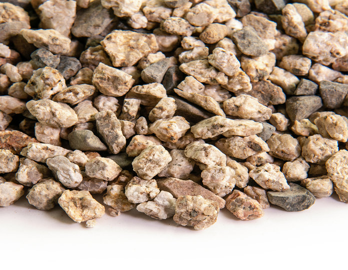 Chamois Beige crushed stone rock closeup texture
