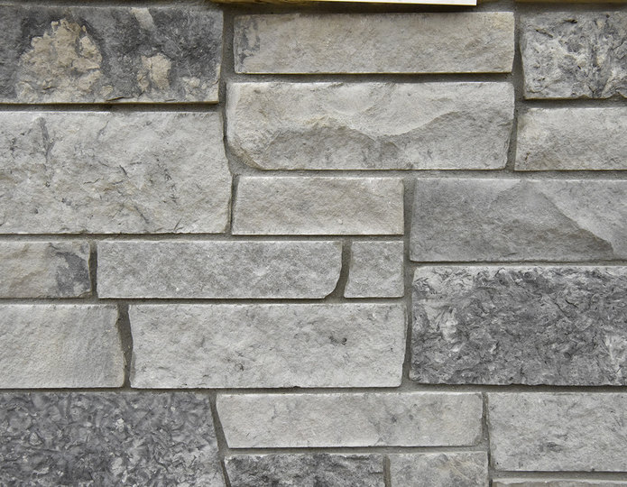 Silver Windmill Stone Veneer Natural Ledgestone on rock wall project