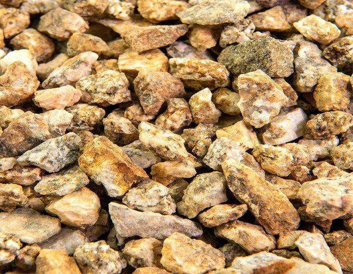 Mojave Gold crushed stone rock closeup texture