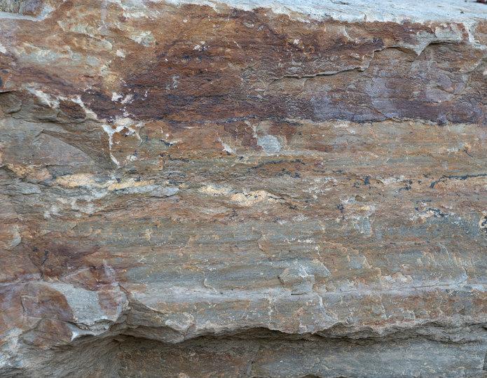 Gold Quartzite landscape rock boulder closeup texture