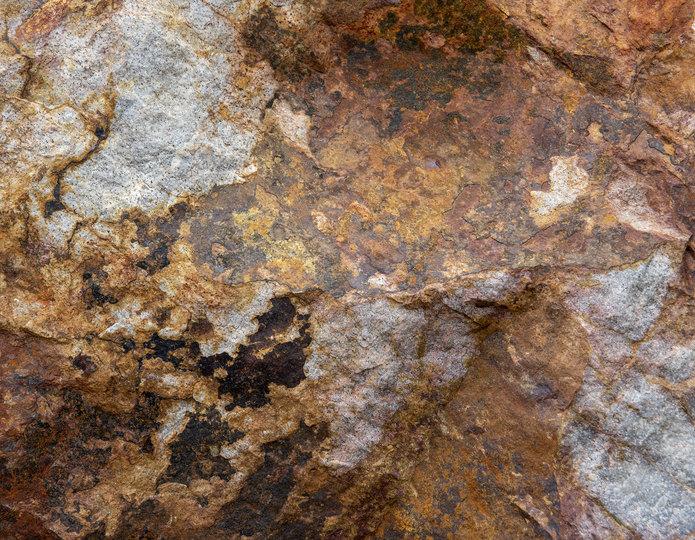Baja Cresta landscape boulder pile in rock yard closeup
