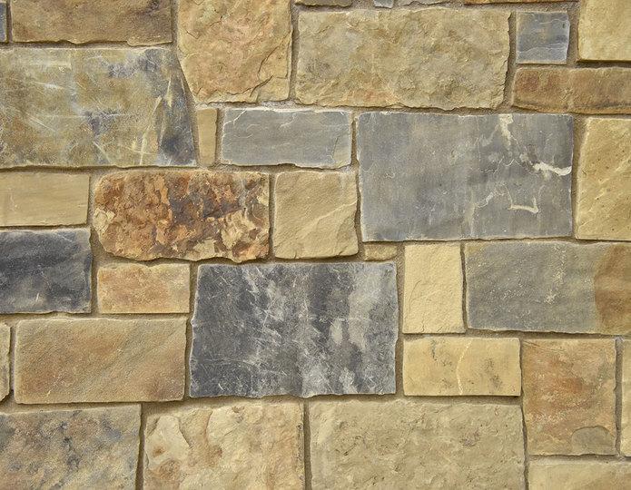 Windmill Stone Veneer Natural Ledgestone on rock wall project