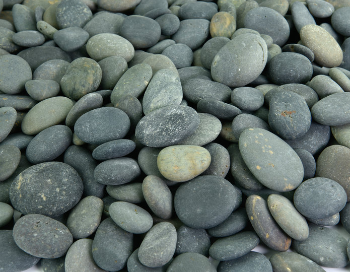 Mexican Beach Pebble buttons landscape cobblestone pebble in bulk at rock yard