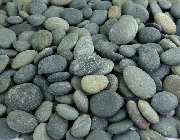 Mexican Beach Pebble buttons landscape cobblestone pebble in bulk at rock yard