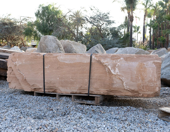 Arizona Buff Bench landscape boulder in rock yard