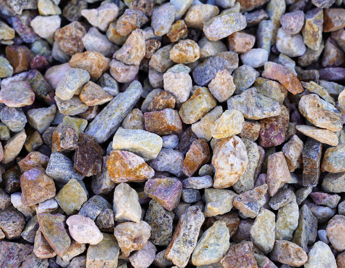 Palm Springs Gold crushed stone rock in bulk at rock yard 4