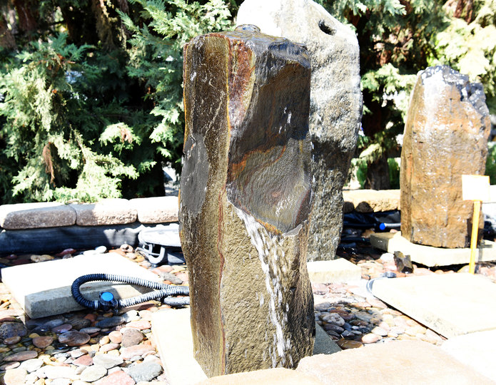 Bronze Basalt Stone Fountain