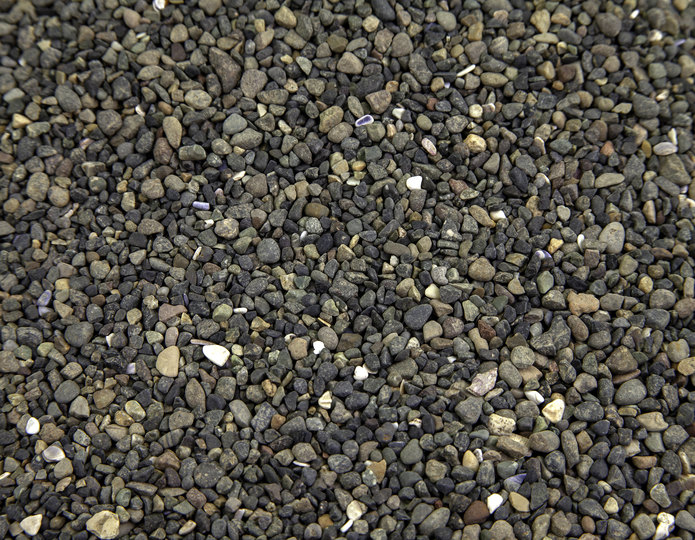Black Criva landscape pebbles in bulk at rock yard 2