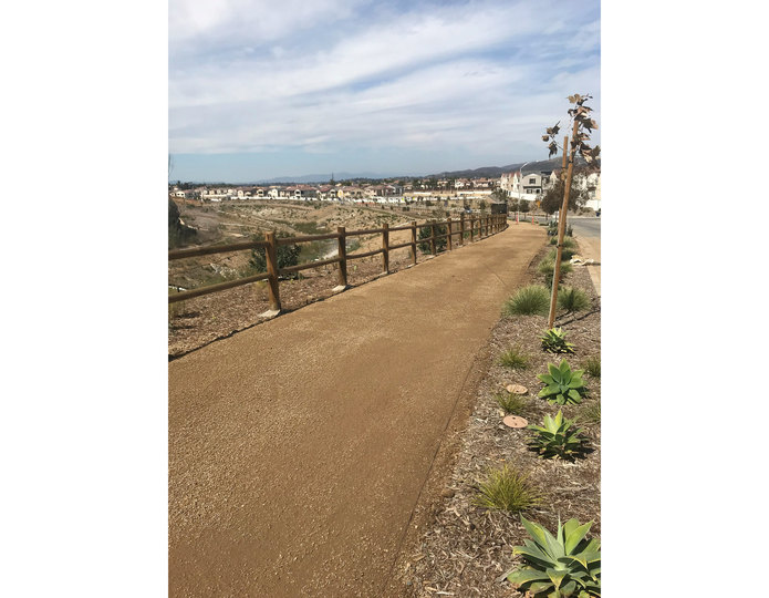 Paradise gold decomposed granite fines pathway installed at commercial park 2